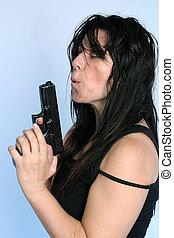 Underworld gangster - Rough looking female underworld...
