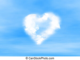heart on the sky - tender soft heart sign(special photo...