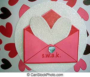 Sealed With A Kiss - A beautiful sparkly white heart popping...