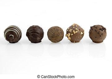 Five truffles in a row
