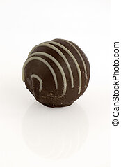 Cappuccino truffle isolated - Isolated cappuccino truffle...
