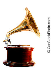 Wind-up gramophone - An old-fashioned wind-up gramophone