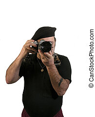 Photographer wearing a beret