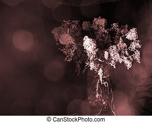 Withered Roses - Withered bouquet of roses can symbolize...