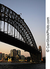 Harbour Bridge - dusk photo of Harbour Bridge; location: The...
