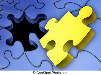 Not right piece - the piece which does not fit the puzzle