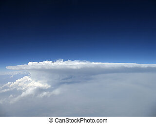 Stormcloud - Storm clould dissipating over the Canadian...