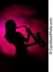 lady jazz - silhouette
