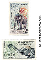 Laos post stamps - Obsolete postage stamps from Laos (Asia)....