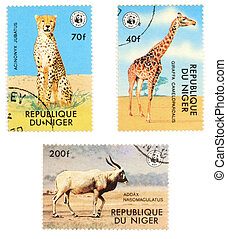 African stamps - Obsolete postage stamps from Niger...