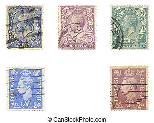 Royal mail stamps - Obsolete postage stamps from United...