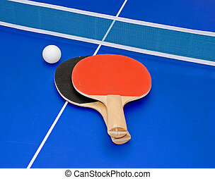 Ping pong paddles - two ping pong (table tennis) paddles and...