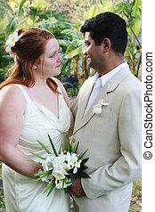 Look of love - Happy couple just married