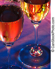 New Year\\\'s Eve 01 - Two glasses of champagne on a table...