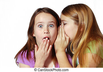 She said what - Two girls sharing secrets