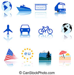 Global Travel Icons - World travel is at your...