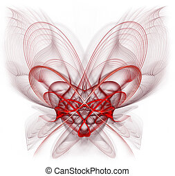 Entangled Heart - Abstract, entangled heart. Very highly...