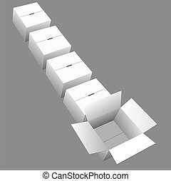 Shipping Line of Boxes-Cartons