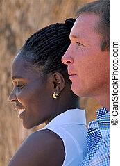 portrait interracial couple