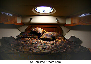 Interior - This is a bedroom in the yacht