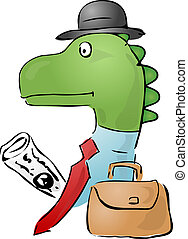 Dinosaur businessman - Illustration of a dinosaur...