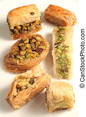 Arab pastries - A plate of traditional Arab or Lebanese...