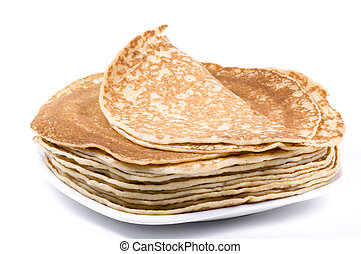 a plate with pancake
