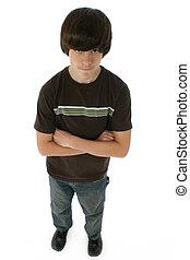 Cute Thirteen Year Old Boy - Cute 13 year old boy standing...