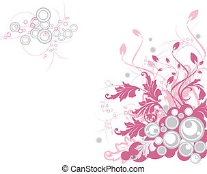 Floral background. Ullustration can be used as a Valentines...