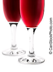 Glass of red wine on white background-romantic appointment...