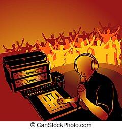 Deejay 01 - coloured illustration.