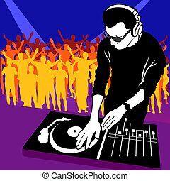 Deejay 03 - Coloured illustration.