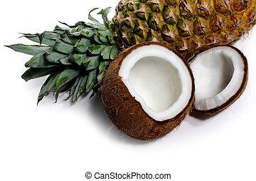 Ananas, kokosnuss