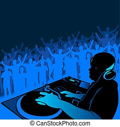 DJ music - Coloured illustration.