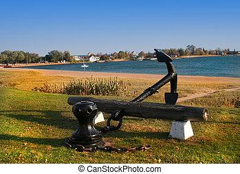 ANCHOR ON LAKE SHORE - Grand Maris and lake Superior shore