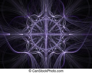 Celtic art fractal - Abstract fractal background Computer...