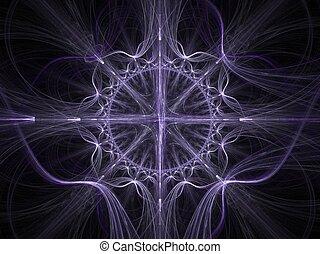 Celtic art fractal - Abstract fractal background. Computer...