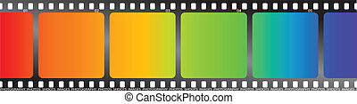 rainbow film - A single piece of film with a rainbow effect...