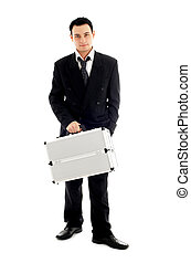 businessman with metal container #2