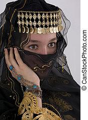Ethnic Girl - Ethnic girl wearing traditional clothing and...