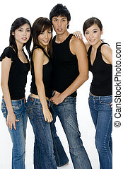 Attractive Group - A group of four attractive men and women...
