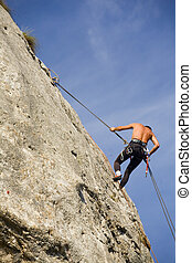 Focusing - Climbing in Metaliferi Mountains, Romania