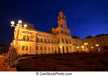 City Hall - Arad City Hall by night, Romania