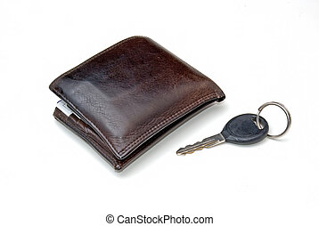 watch and key - a watch and a car key