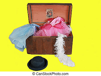 dress up chest - A antique trunk filled with lots of...