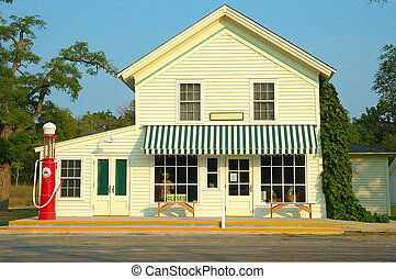 General Store Gas Station - A general store and gas station...