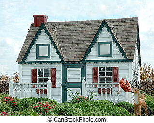 Gingerbread House in the Garden