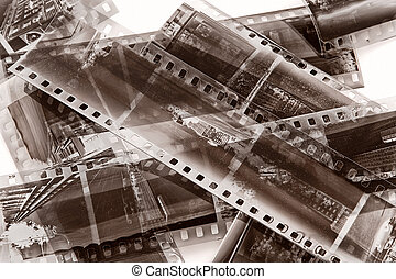 Vintage film with natural scratchs
