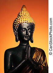 Buddha - Small buddha sculpture with warm...