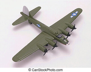 B-17 Flying Fortress WW II bomber diecast model
